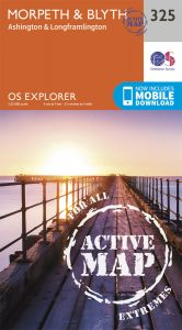 OS Explorer Active - 325 - Morpeth & Blyth