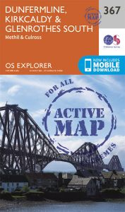 OS Explorer Active - 367 - Dunfermline, Kirkcaldy & Glenrothes South