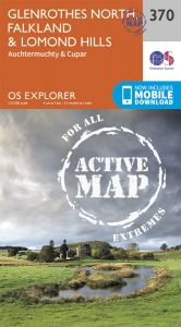 OS Explorer Active - 370 - Glenrothes North, Falkland & Lomond Hills