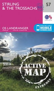 OS Landranger Active - 57 - Stirling & The Trossachs