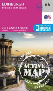 OS Landranger Active - 66 - Edinburgh, Penicuik & North Berwick