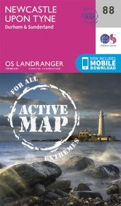 OS Landranger Active - 88 - Newcastle upon Tyne, Durham
