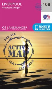 OS Landranger Active - 108 - Liverpool, Southport & Wigan