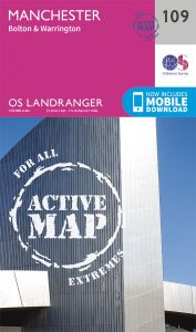 OS Landranger Active - 109 - Manchester, Bolton & Warrington