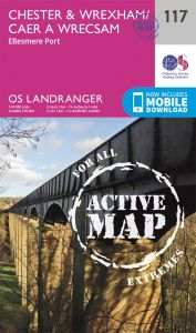 OS Landranger Active - 117 - Chester & Wrexham, Ellesmere Port