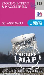 OS Landranger Active - 118 - Stoke on Trent & Macclesfield