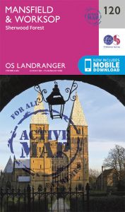 OS Landranger Active - 120 - Mansfield & Worksop, Sherwood Forest