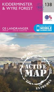 OS Landranger Active - 138 - Kidderminster & Wyre Forest