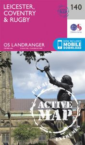 OS Landranger Active - 140 - Leicester, Coventry & Rugby