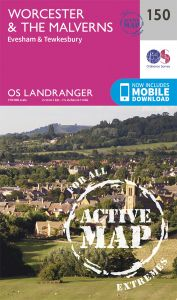 OS Landranger Active - 150 - Worcester & The Malverns