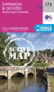 OS Landranger Active - 173 - Swindon & Devizes, Marlborough