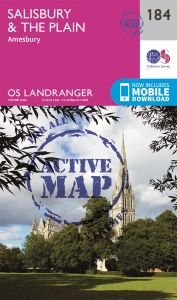 OS Landranger Active - 184 - Salisbury & The Plain, Amesbury
