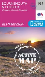 OS Landranger Active - 195 - Bournemouth & Purbeck