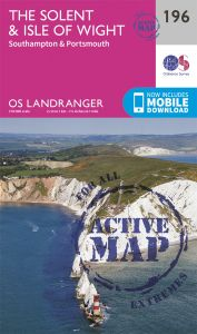 OS Landranger Active - 196 - The Solent & IOW