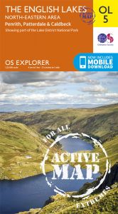 OS Explorer Active - 5 - The English Lakes - North Eastern