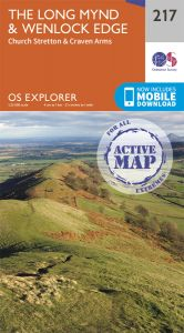 OS Explorer Active - 217 - The Long Mynd & Wenlock Edge
