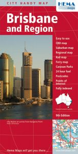 Hema City Map - Brisbane & Region Handy
