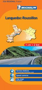 Michelin Regional Map - 526-Languedoc-Roussillon