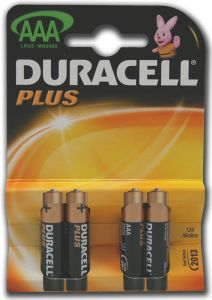 Duracell Plus Power Batteries - AAA - Single Pack (4)