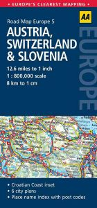 AA - Road Map Europe - Austria, Switzerland & Slovenia