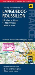 AA - Touring Map France - Languedoc-Roussillon