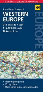AA - Road Map Europe - Western Europe