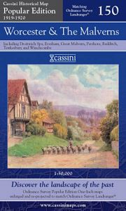 Cassini Popular Edition - Worcester & The Malverns (1919-1920)