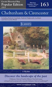 Cassini Popular Edition - Cheltenham & Cirencester (1919)
