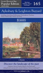 Cassini Popular Edition - Aylesbury & Leighton Buzzard (1919-1920)