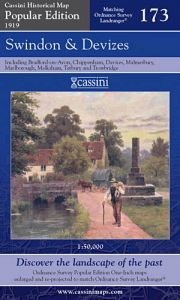 Cassini Popular Edition - Swindon & Devizes (1919)
