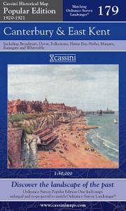 Cassini Popular Edition - Canterbury & East Kent (1920-1921)