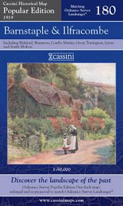Cassini Popular Edition - Barnstaple & Ilfracombe (1919)