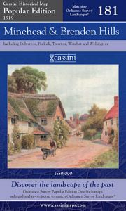 Cassini Popular Edition - Minehead & Brendon Hills (1919)