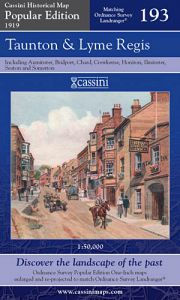 Cassini Popular Edition - Taunton & Lyme Regis (1919)