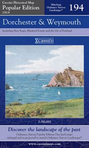 Cassini Popular Edition - Dorchester & Weymouth (1919)