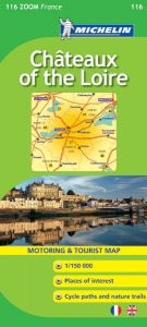 Michelin Zoom Map - 116-Chateaux of the Loire