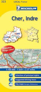Michelin Local Map - 323-Cher, Indre