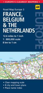 AA - Road Map Europe - France, Belgium & The Netherlands