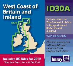 Imray ID Chart (Digital) - West Coast of Britain with UK Tide Information (ID30A)
