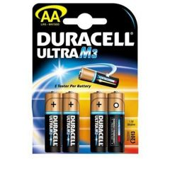 Duracell Ultra Power Batteries - AA - Single Pack (4)