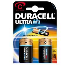 Duracell Ultra Power Batteries - C - Single Pack (2)