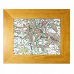 Cassini Personalised Map - Wood Framed