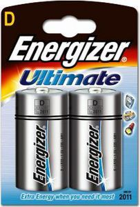 Energizer Ultimate Batteries - D - Single Pack (2)