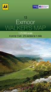 AA - Walker's Map 13 - Exmoor
