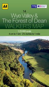 AA - Walker's Map 14 - Wye Valley & The Forest Of Dean