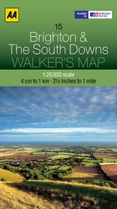AA - Walker's Map 15 - Brighton & The South Downs