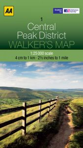 AA - Walker's Map 1 - Central Peak District