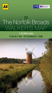 AA - Walker's Map 22 - The Norfolk Broads