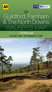 AA - Walker's Map 23 - Guildford, Farnham & The North Downs