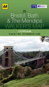 AA - Walker's Map 25 - Bristol, Bath & The Mendips